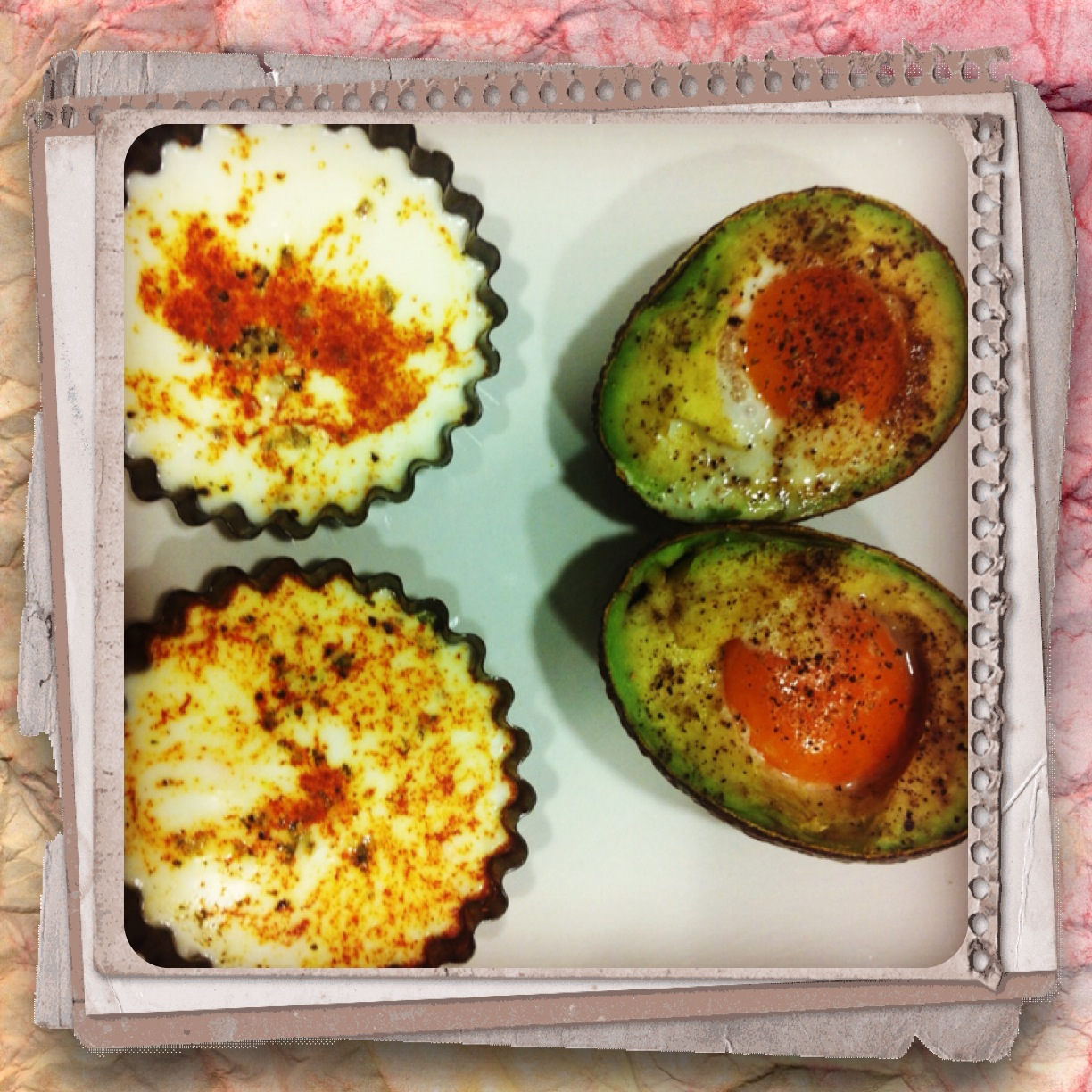 Grilled avocado and egg recipe