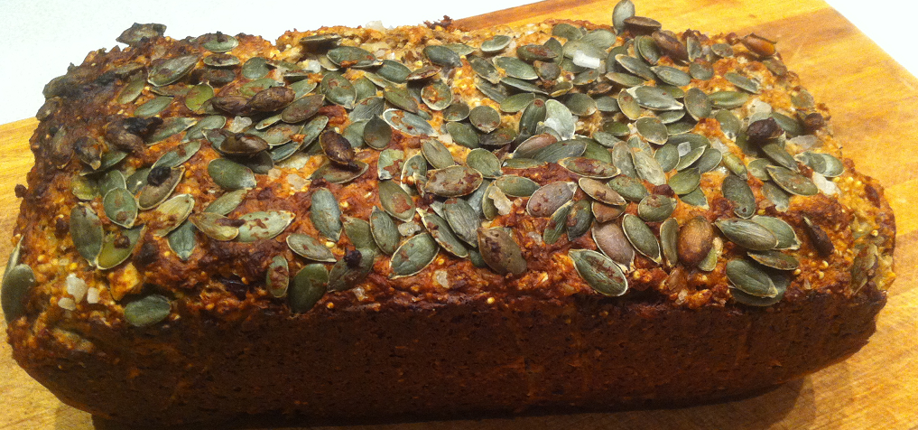 Homemade bread with nuts, seeds and cereals